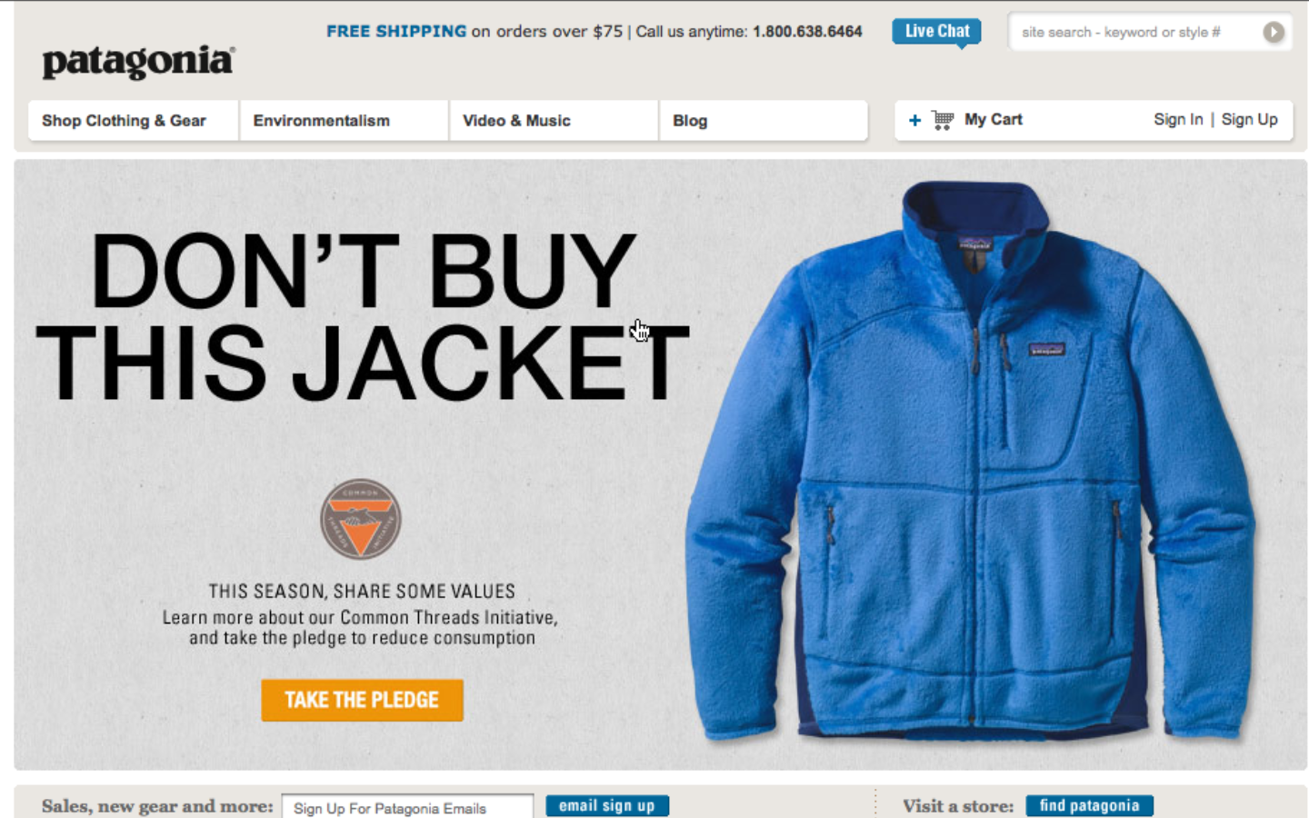 Patagonia y su branding basado en el Marketing con Causa